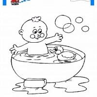 çocuklar Için Küvet Banyo Eşyalar Boyama Sayfası 6 Preschool Activity