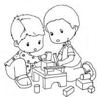 Okul öncesınde Boyama çalişması 1076 Preschool Activity
