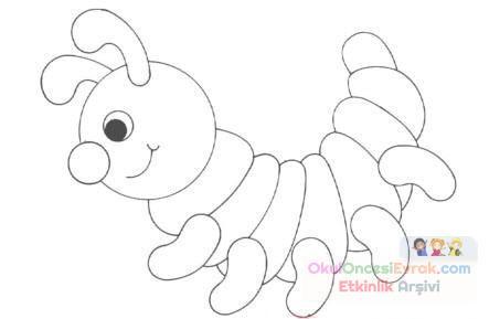 Tırtıl Hayvanlar Boyama 120 Preschool Activity