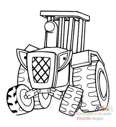 Traktör Boyama Preschool Activity