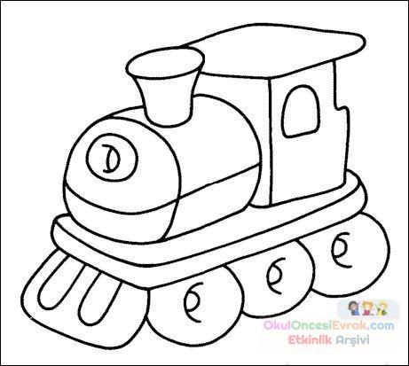 Tren Boyama Preschool Activity