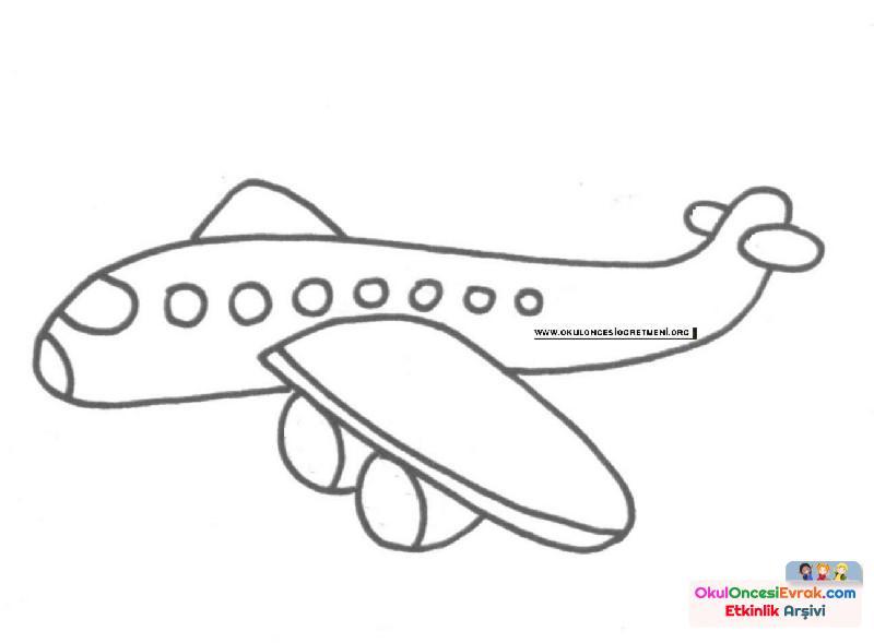 Uçak Boyama Preschool Activity