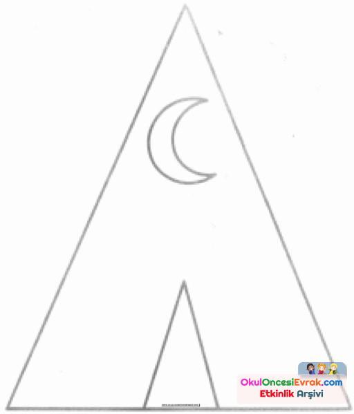 üçgen Boyama Preschool Activity