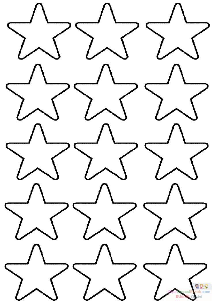Yıldızlar A4 Preschool Activity