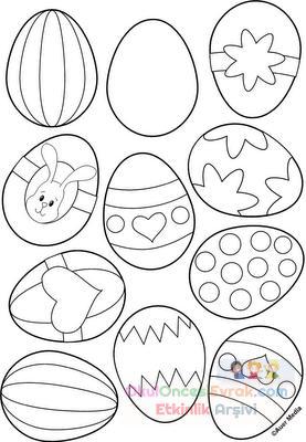 Yumurta Boyama Okul öncesi Bahattinteymuriom