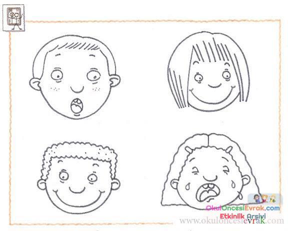 Yüz Ifadeleri 8 Preschool Activity