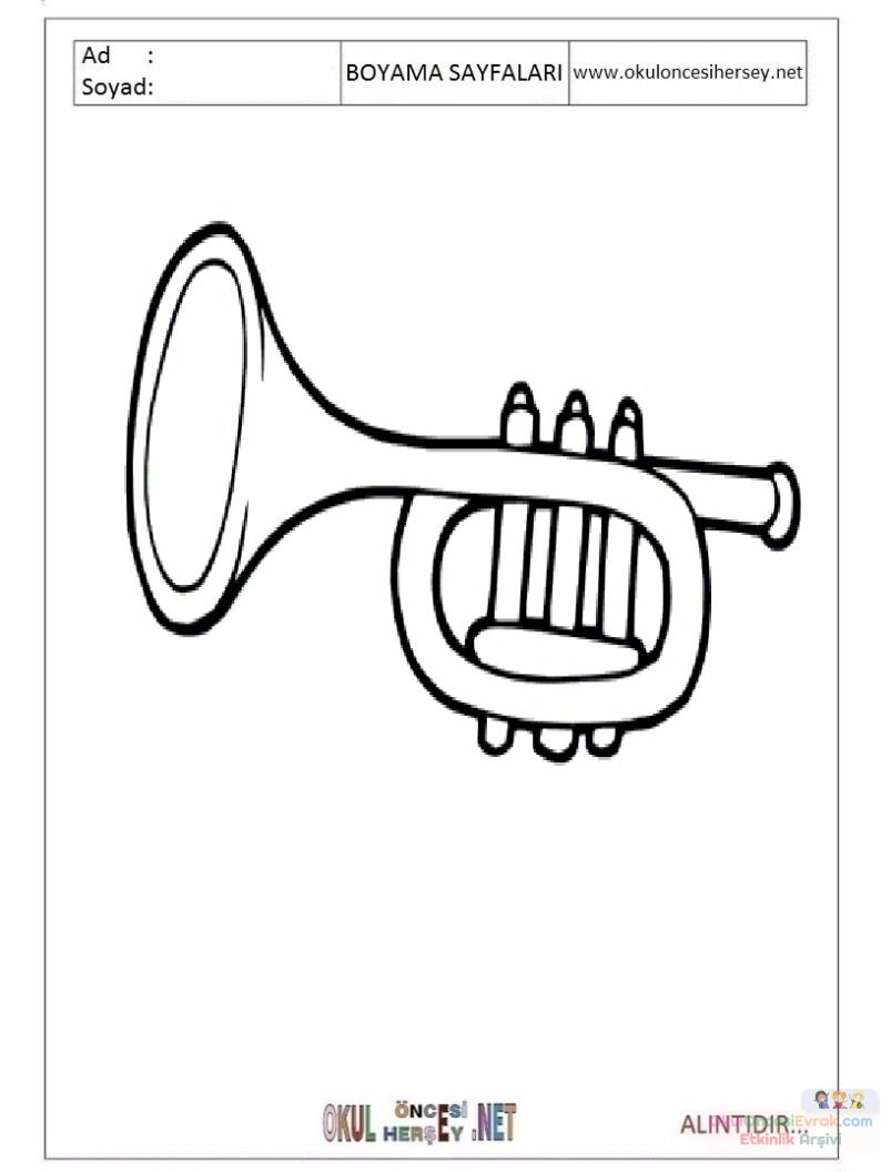 Okul öncesinde Müzik Aletleri Yapımı Sanat Etkinliği Boyama