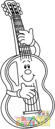 Gitar Boyama Sayfası Preschool Activity