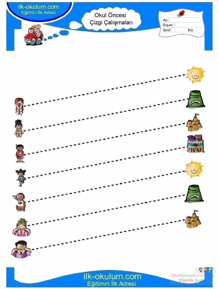 Anaokulu Için Serbest Düzenli çizgi çalışma Sayfaları 3 Preschool