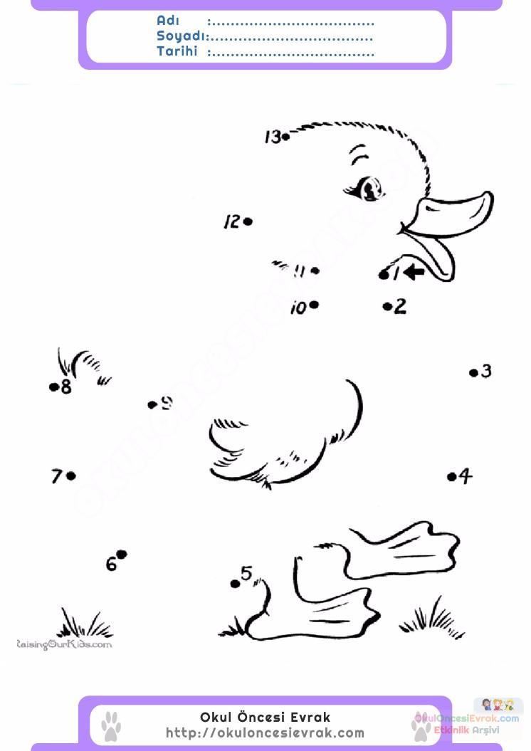 çocuklar Için Noktaları Birleştir Resmi Tamamla Boyama Sayfaları 29