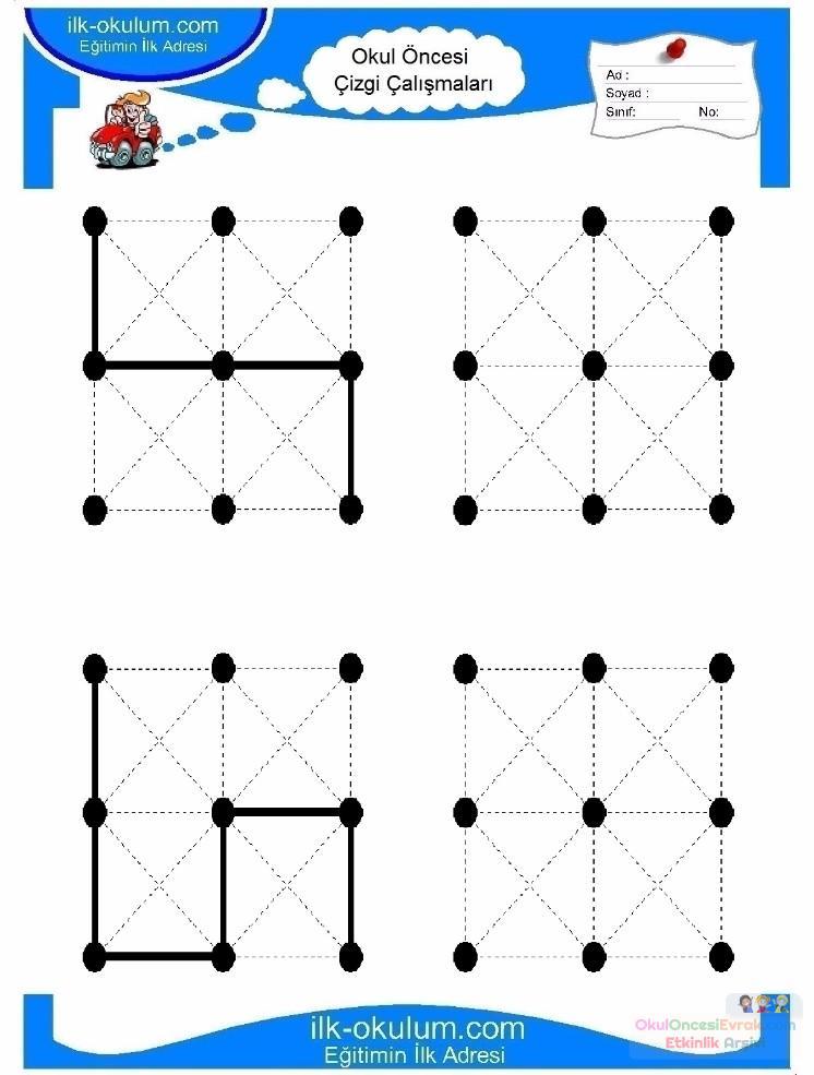 Okul öncesi Motor Kontrol Gelişim Için çizgi çalışması 6 Preschool