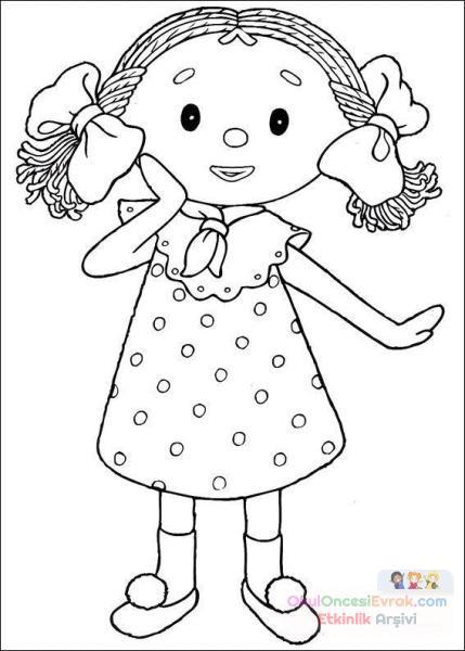 Boyama Resimleri Kucuk Kiz Preschool Activity