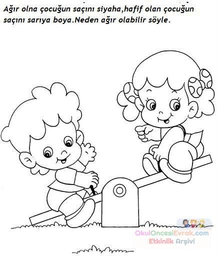 Okul öncesi Kavramlar 26 Preschool Activity