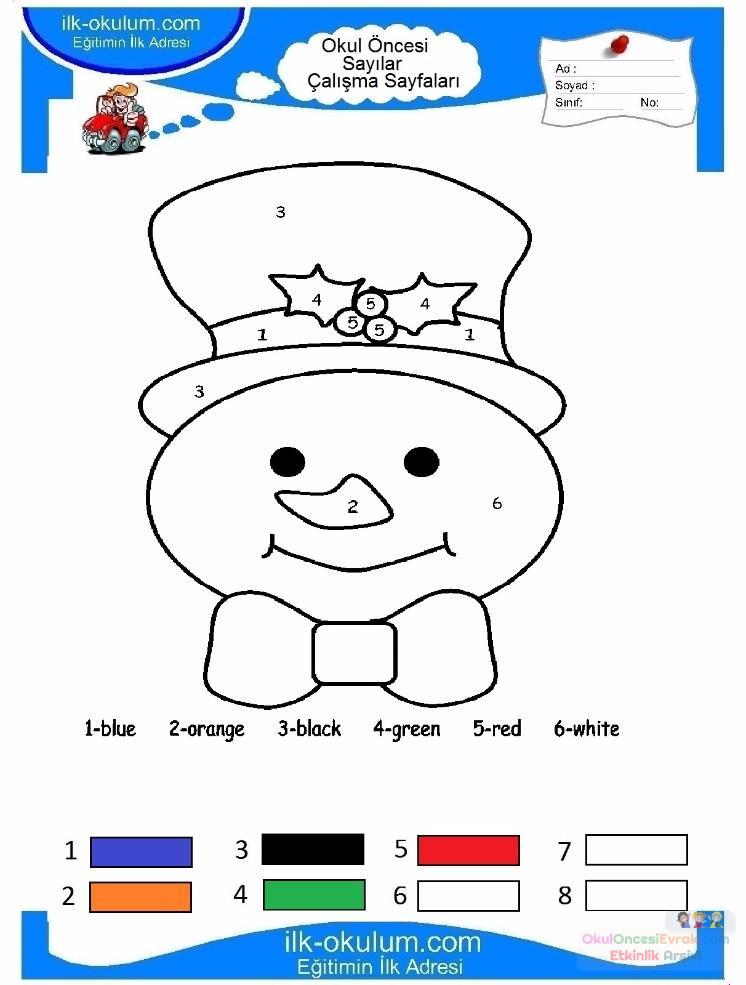 çocuklar Için Sayıya Göre Resmi Boya Boyama Sayfaları 48 Preschool