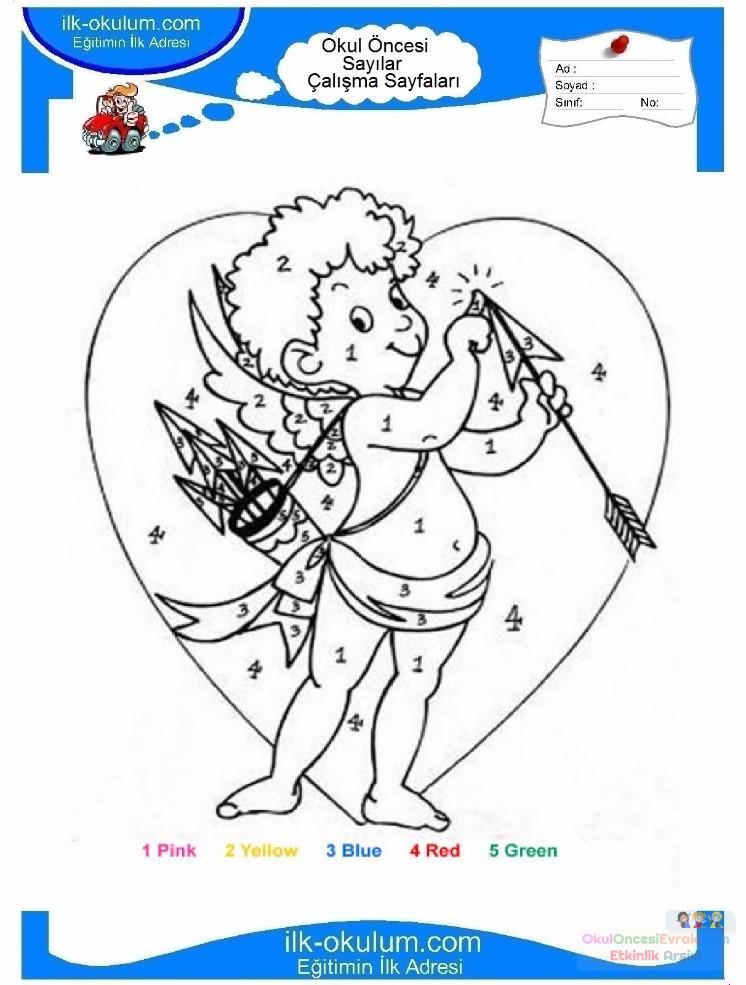 çocuklar Için Sayıya Göre Resmi Boya Boyama Sayfaları 56 Preschool