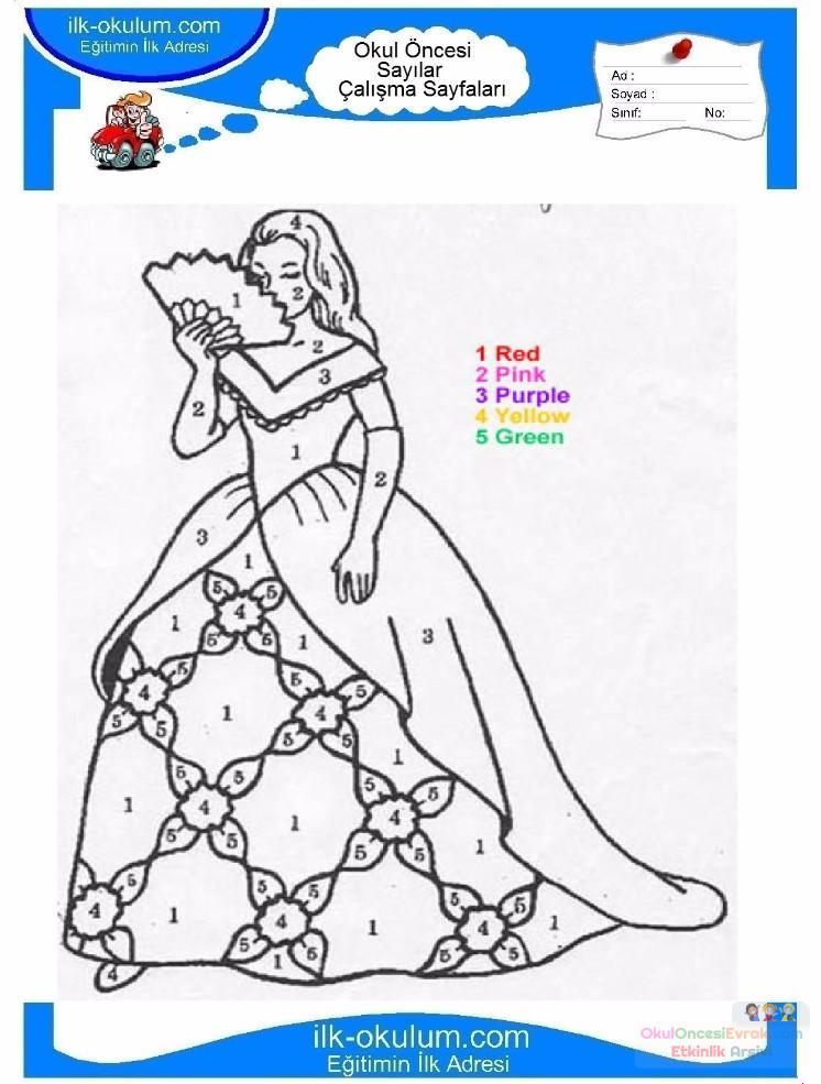 çocuklar Için Sayıya Göre Resmi Boya Boyama Sayfaları 60 Preschool