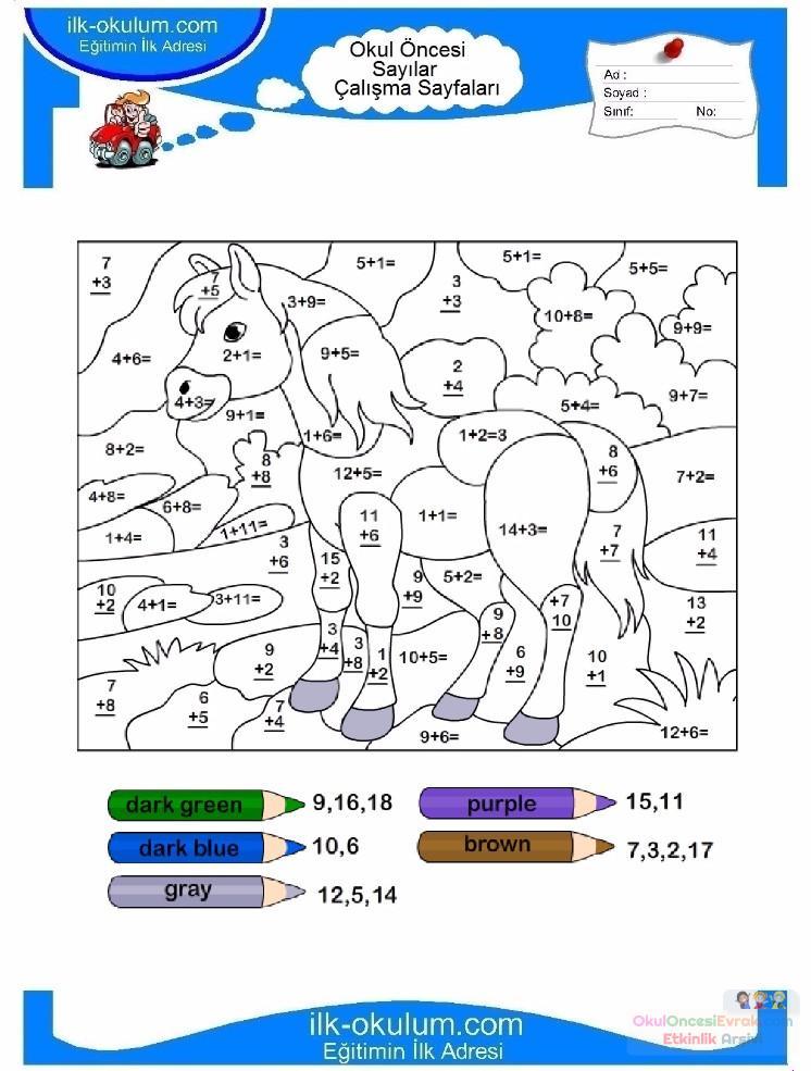 çocuklar Için Sayıya Göre Resmi Boya Boyama Sayfaları 89 Preschool
