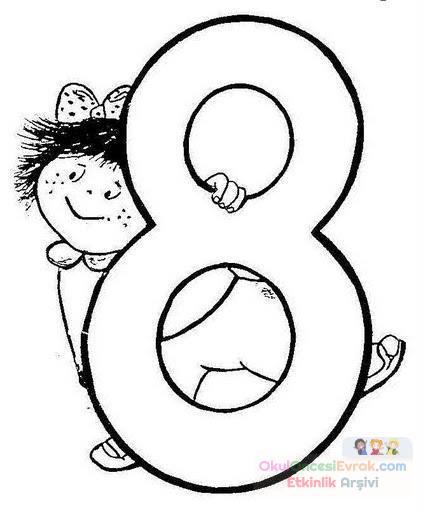 çocuklu Sayılar 8 Preschool Activity