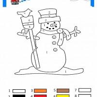 çocuklar Için Sayıya Göre Resmi Boya Boyama Sayfaları 49 Preschool