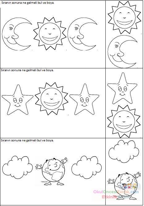 Dünya Gece Gündüz Preschool Activity