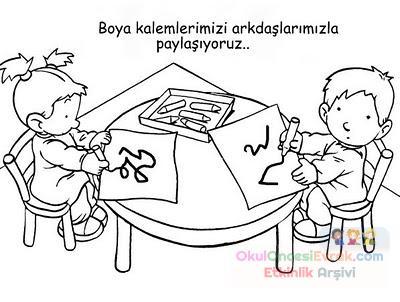 Okul öncesınde Sınıf Kuralları 5 Preschool Activity
