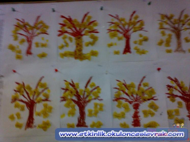 Makarnadan Ağaç Preschool Activity