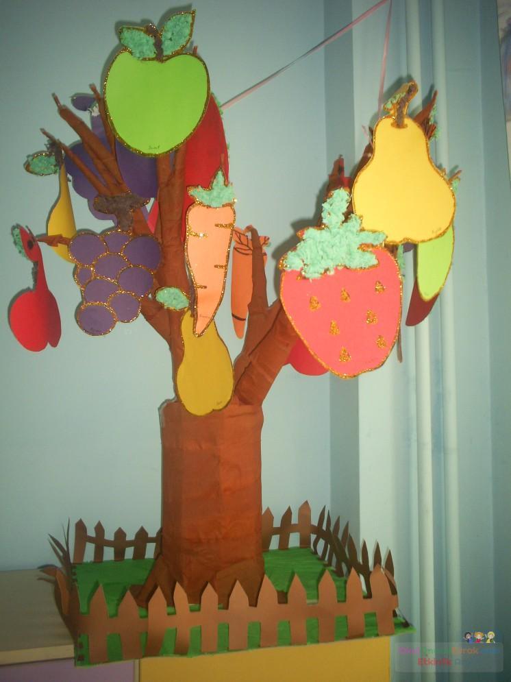 3 Boyutlu Meyve Ağacı Preschool Activity