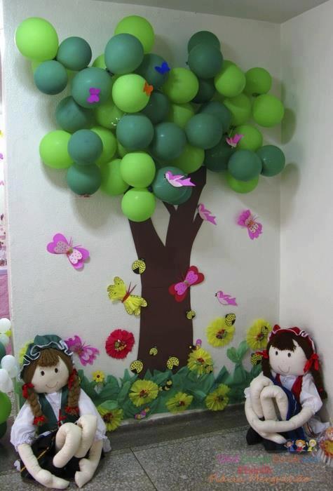 3 Boyutlu Balon Ağaç Preschool Activity