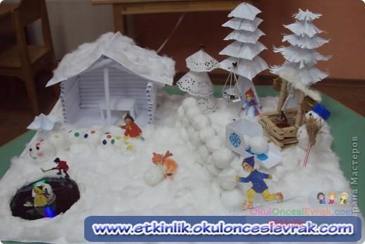Зимние поделки для детского сада фото