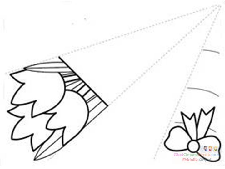 Sanat Etkinliği çiçek Demeti Kalıbımızjpg Preschool Activity