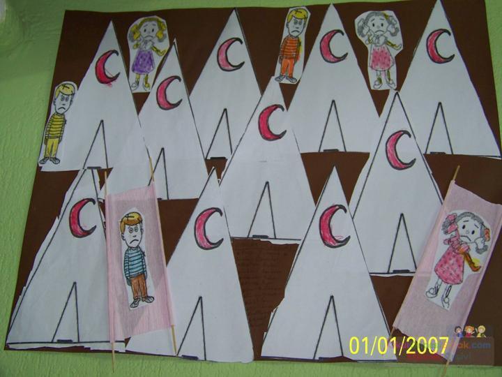 Sanat Kızılay çadırlarıjpg Preschool Activity