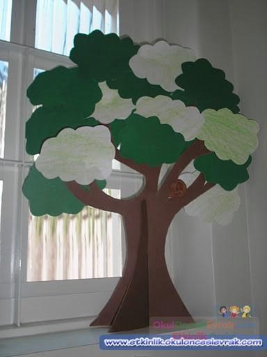 3 Boyutlu Ağaçlar 3 Preschool Activity