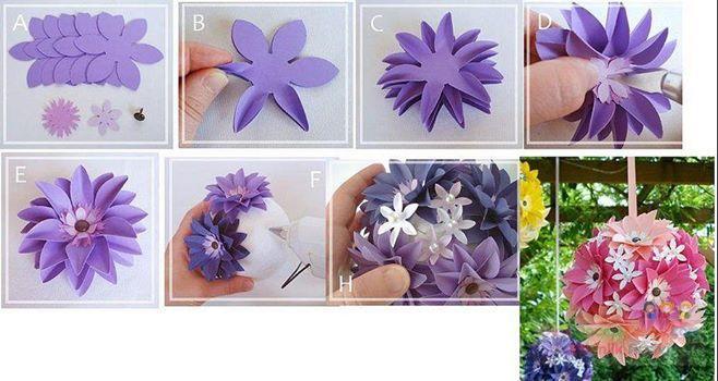 Интересный цветок своими руками 94