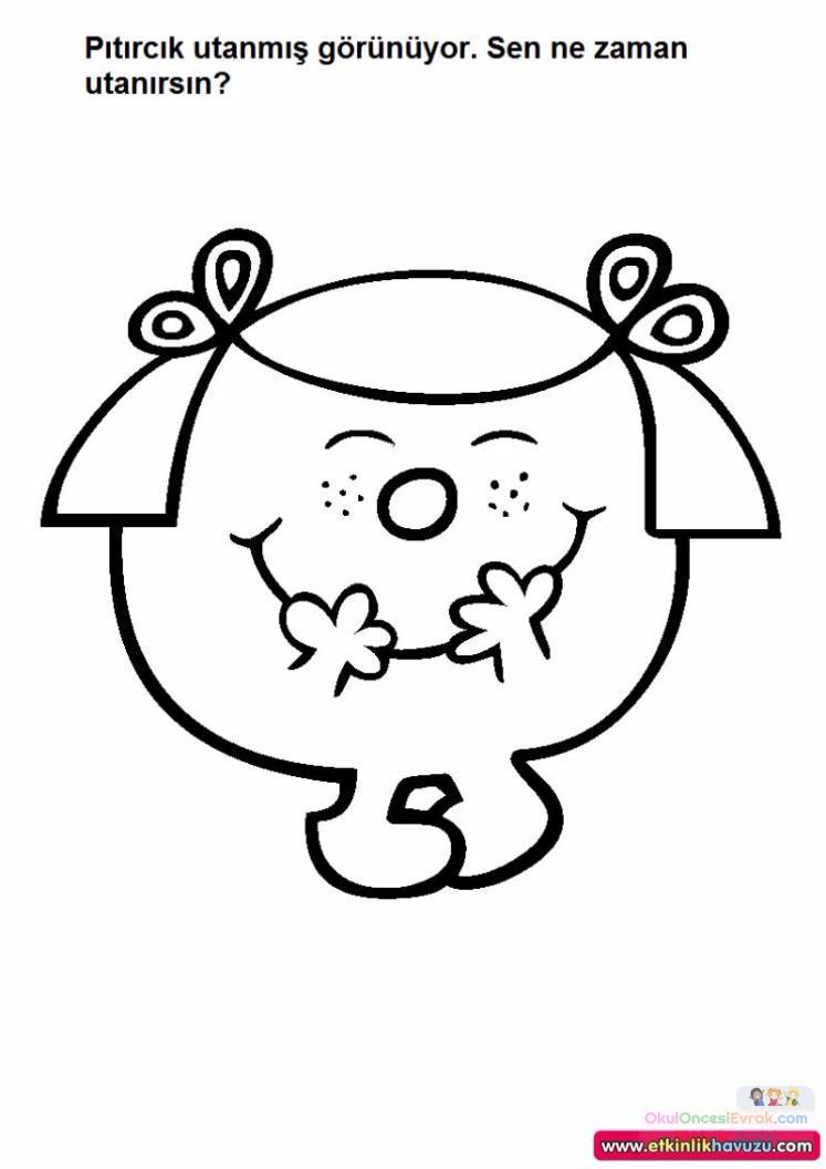 Yuz Boyama Sayfasi Preschool Activity
