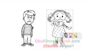 Kız Erkek Boyama Sayfası Preschool Activity