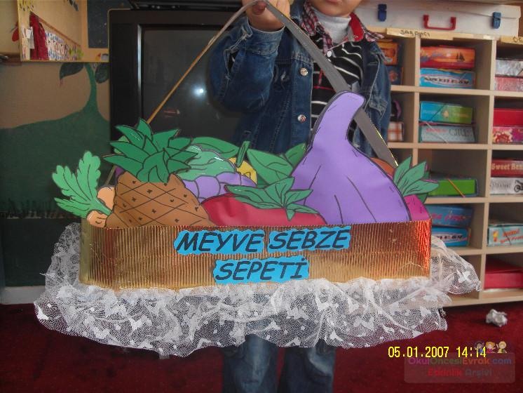 Meyve Sepeti Preschool Activity