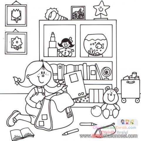 Okula Uyum Haftası Boyama çalişması Sanat Etkinliği 46