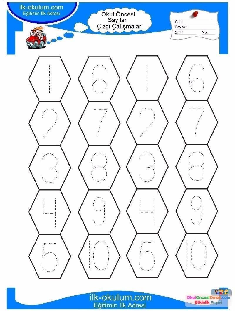 Okul öncesi çocuklar Için Sayılar çizgi çalışmaları 12 Preschool