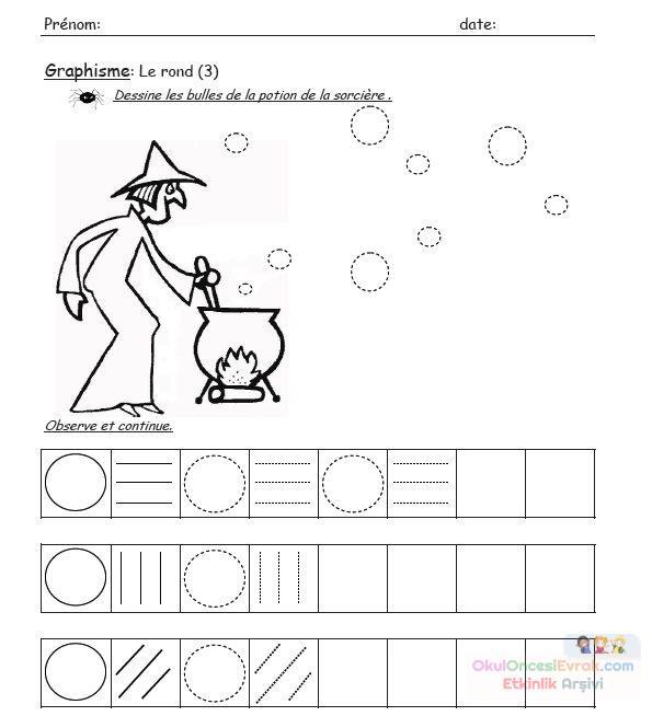 Okul öncesinde Cadı Boyama Sayfası 20 Preschool Activity