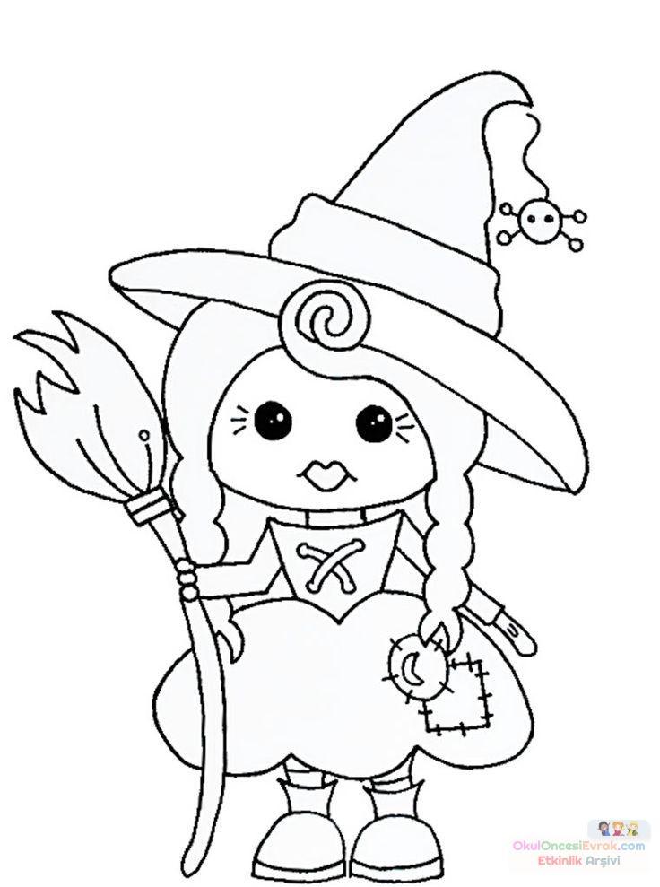 Okul öncesinde Cadı Boyama Sayfası 28 Preschool Activity