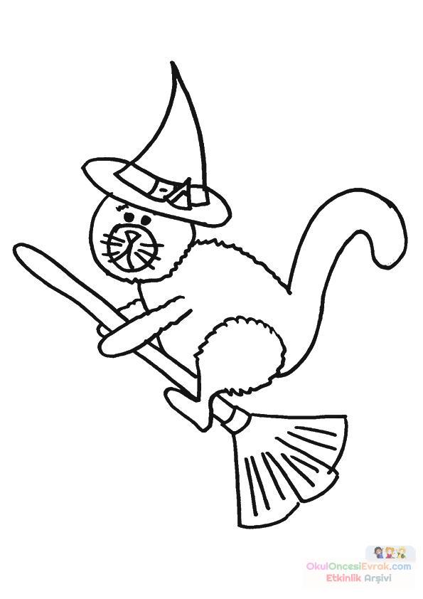 Okul öncesinde Cadı Boyama Sayfası 33 Preschool Activity