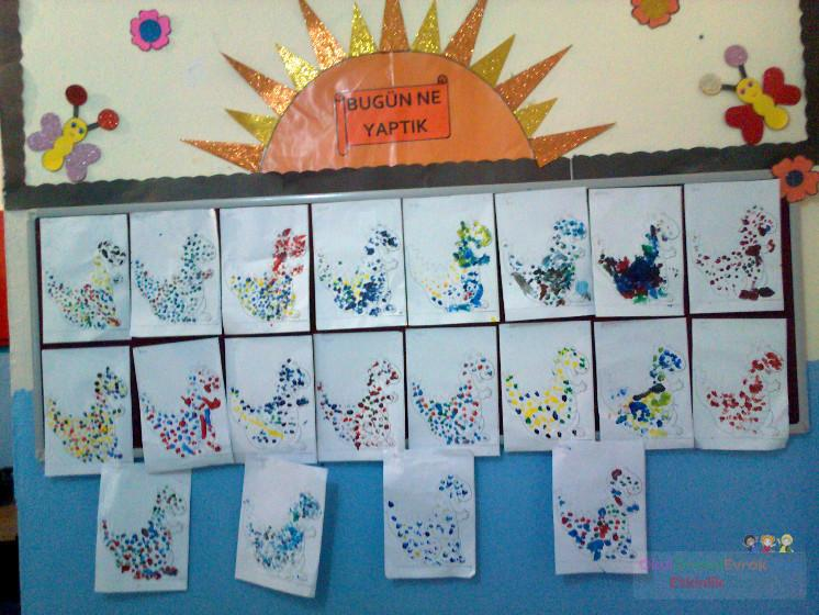 Parmak Boyası Preschool Activity