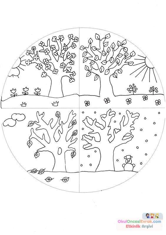 Mevsımler Preschool Activity