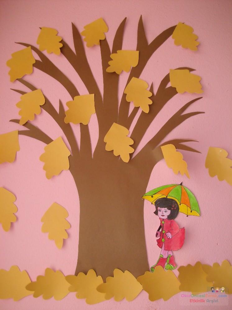 Sonbahar Ağacı Preschool Activity