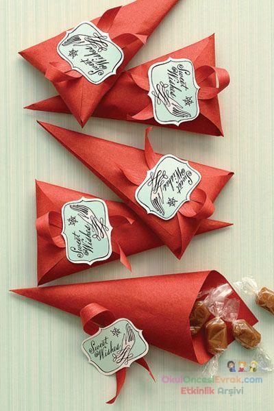 Как красиво упаковать конфеты своими руками на новый год