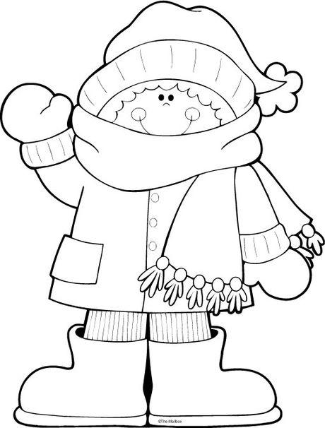 Anasınıfı Kış Mevsimi Boyama Sayfası 4 Preschool Activity