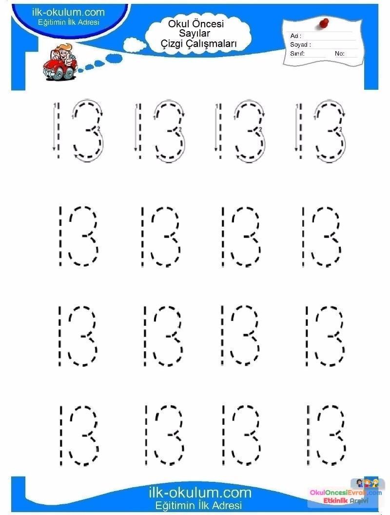 Best Okul öncesi 3 Rakamı çizgi çalışması Image Collection