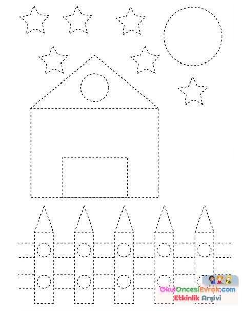 Okul öncesi Geometrik şekiller çalışma Sayfaları Preschool Activity
