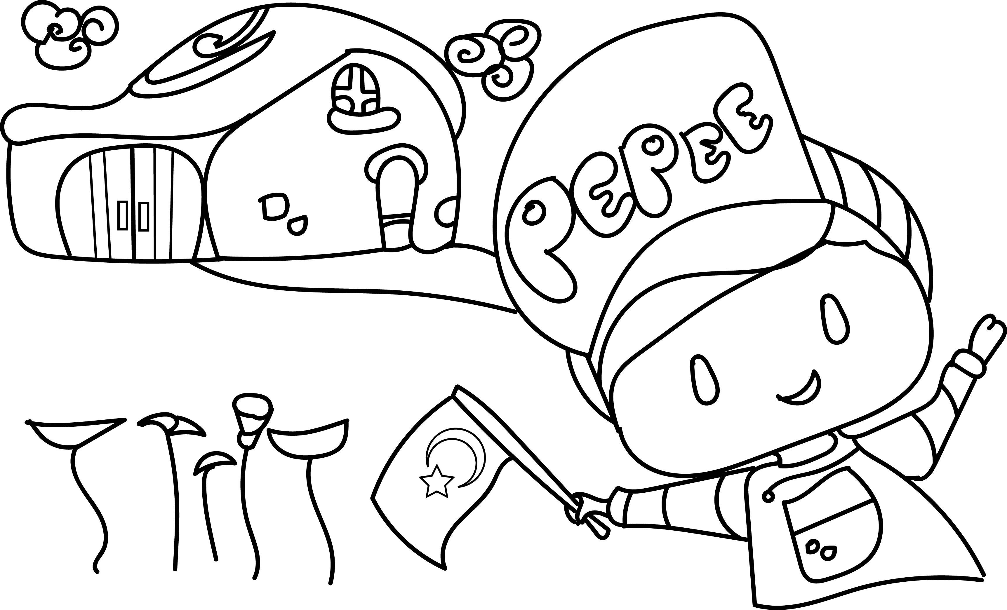 Pepee 23 Nisan Boyama Sayfasi Preschool Activity