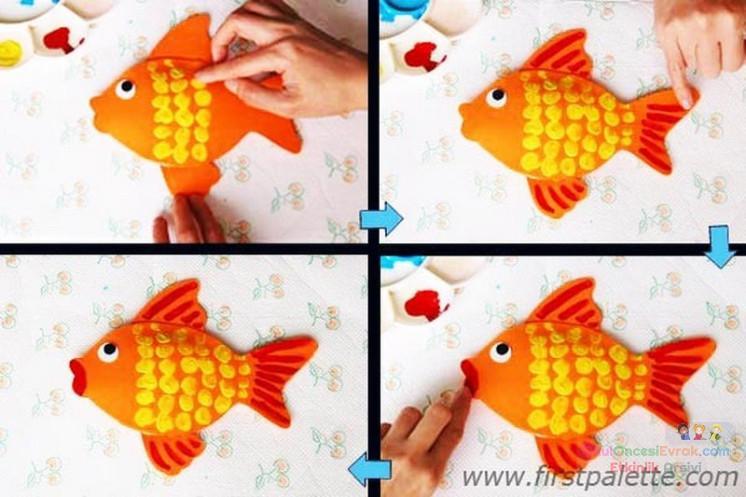 Как сделать рыбку из бумаги ребенку